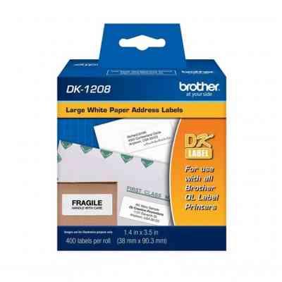 Etiquetas adhesivas de 38 x 90 mm | Brother DK-1208 | ArtecolorVisual