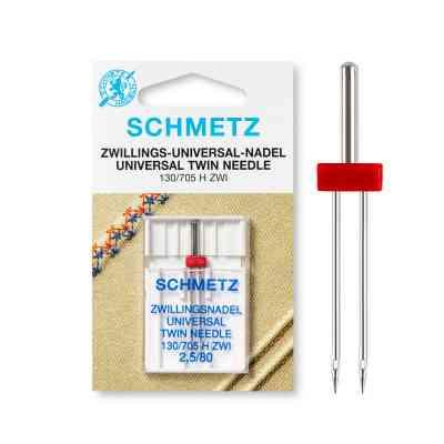 Doble aguja para costura paralela | Schmets - Gemelas universal | ArtecolorVisual