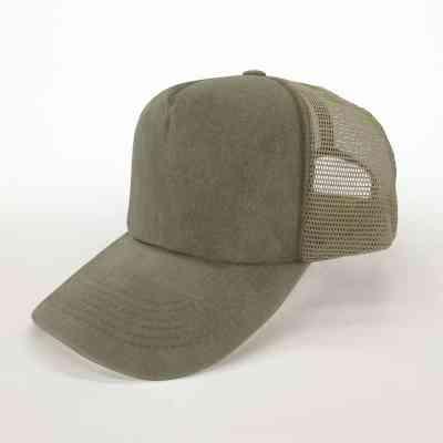 Gorra Trucker | Verde Oliva de algodón con visera curva | ArtecolorVisual