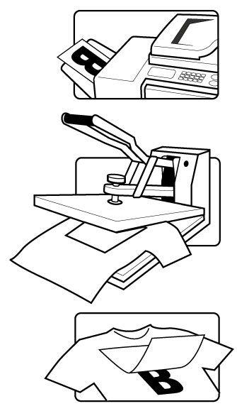 Tranfer blanco fotocopiadora sin aceite